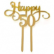 ''Happy 50'' Celebration Cake Topper
