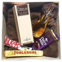 Towel, Chocolates & Perfume in Gift Box