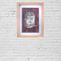 Buddha Antique Wooden Wall Hang Frame