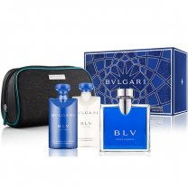 Bvlgari BLV Pour Homme EDT Gift Set For Him (Perfume, After Shave, Shower Gel)