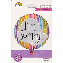 """""""I'm Sorry"""" Inflatable Foil Balloon"""