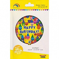 Happy Birthday Mcolour Inflatable Balloon