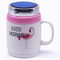 Good Morning Ceramic Coffee Mug (Relaxing Swan)