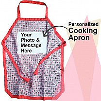 Personalized Beautiful Dhaka Print Kitchen Apron (Print Your Own Photo & Text)
