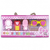 Cute Shaped Erasers Gift Pack For Girl