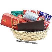 JW Red Label, Namkeens, Diary Pen, Message Mug Basket