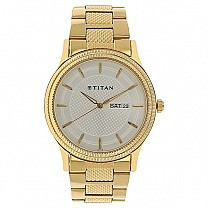 Titan Silver Dial Stainless Steel Strap Watch for Men (1650YM05)