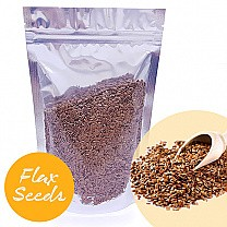 Flax Seeds 200g (Aalas) - Resealable Silver Pouch