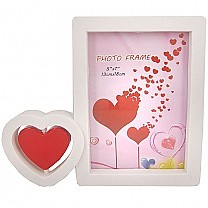 Double Heart Designed Photo Frame - Table Top