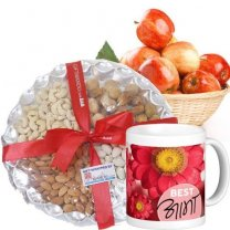 Apple Basket, Dry Nuts and Best Aama Mug