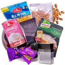 Gift Hamper for Him - Perfume, Namkeen, Sweets, Dry Nuts & More
