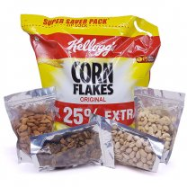 Great Breakfast Combo - Family Size Cornflakes and Nature's Best Dry Nuts