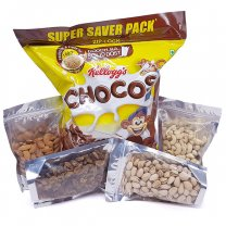 Great Breakfast Combo - Family Size Chocos and Nature's Best Dry Nuts