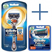 Gillette Fusion Proglide Razor and Cartridges (4pcs)