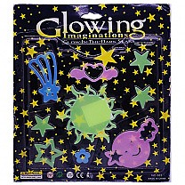 Glowing Imaginations Light in Dark Stars & Moon Stickers (3)