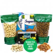 Dry Nuts With Tea & Biscuits (Combo Gift)