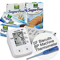 Microlife BP Monitor (BP A2), Sugar Free Biscuits & Digital Thermometer