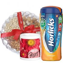 Dry Nuts Tray, Horlicks and Best Aama Mug