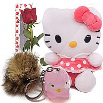 Lovely Kitty, Rose Box and Cute Keyring
