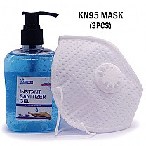 Instant Hand Sanitizer Gel With KN95 Protective Mask