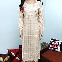 Long Kurti Top With Flower Embroidered