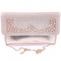 Golden Glittery Party Clutch Purse For Women