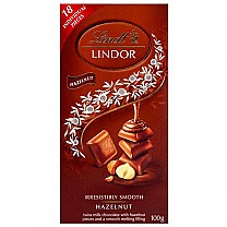 Lindt Lindor Hazelnut Swiss Chocolate 100g (18 Individual Pieces)