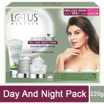 Lotus Herbals WhiteGlow - Day and Night Pack (With 100g Free Face Wash) - Special Offer
