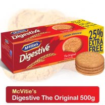McVitie's Digestive The Original Wheat Biscuits 500g (25% Extra Free)