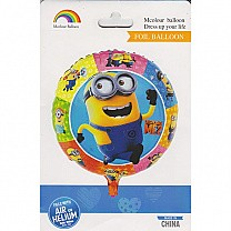 Funny Minions Inflatable Round Foil Balloon