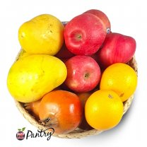 Mix Fresh Fruits Basket - Fuji Apple, Mango, Pomegranate, Junaar (3kg+)