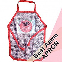 Beautiful Dhaka Print World's Best Aama Printed Kitchen Apron