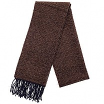 Plain Winter Muffler For Men (Dark Brown)