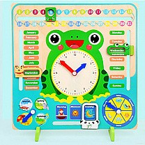 Colorful Multifunctional Calendar Clock For Kids (3+ Years)