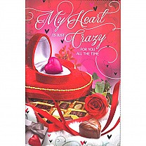 My Heart Is Just Crazy For You - Greeting Card