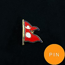 Attractive Nepali Flag Lapel Pin