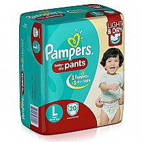 Pampers Baby Dry Pants Diapers - Large (20 Pcs)