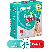Pampers Baby Dry Pants Diapers - L (20 Pants), 9-14 kg