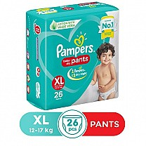 Pampers Baby Dry Pants Diapers - XL (26 Pants), 12-17 kg