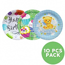 Paper Plates for Party Celebrations (10 Pcs Pack)