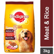 Pedigree Meat & Rice Dry Dog Food 3Kg
