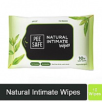 Pee Safe Natural Intimate Wipes (10 Wet Wipes)