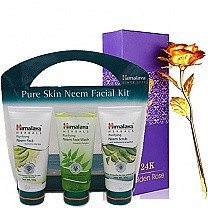 Himalaya Neem Facial Kit with 24K Gold Rose