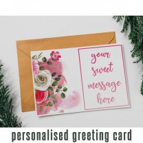 Personalized Greeting Card With Your Message