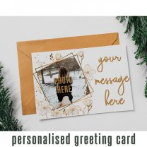 Personalized Greeting Card With Your Photo & Message