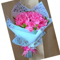 Fresh 20 Pink Carnations Bouquet