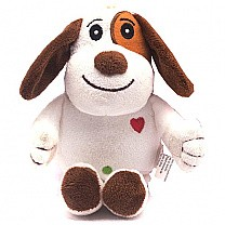"""Adorable Puppy with Love Embroidery (7"""" Tall)"""