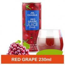 Chabaa Can Juice Red Grape 230ml