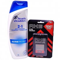 AXE Signature Intense Pocket Perfume With Anti-Dandruff Shampoo