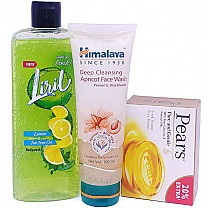 Liril Body Wash With Pears Soap & Apricot Face Wash